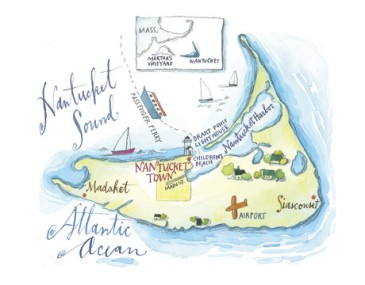 Map of Nantucket