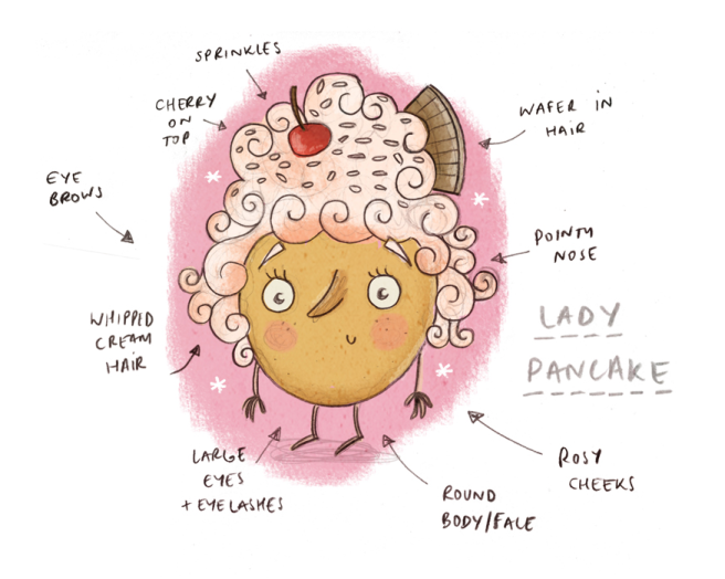 Lady Pancake Sketch