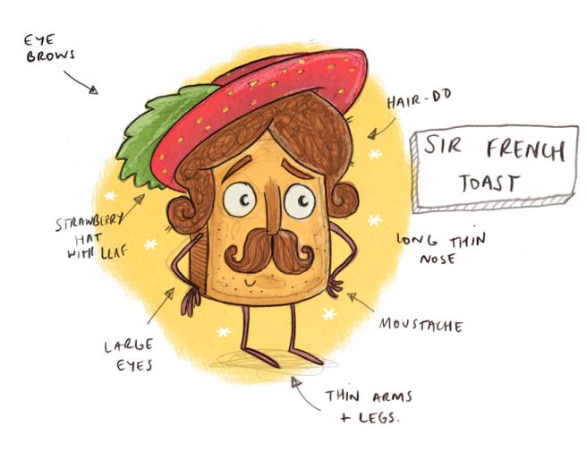 Sir French Toast Sketch
